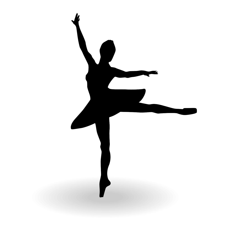Clever image regarding ballerina silhouette printable