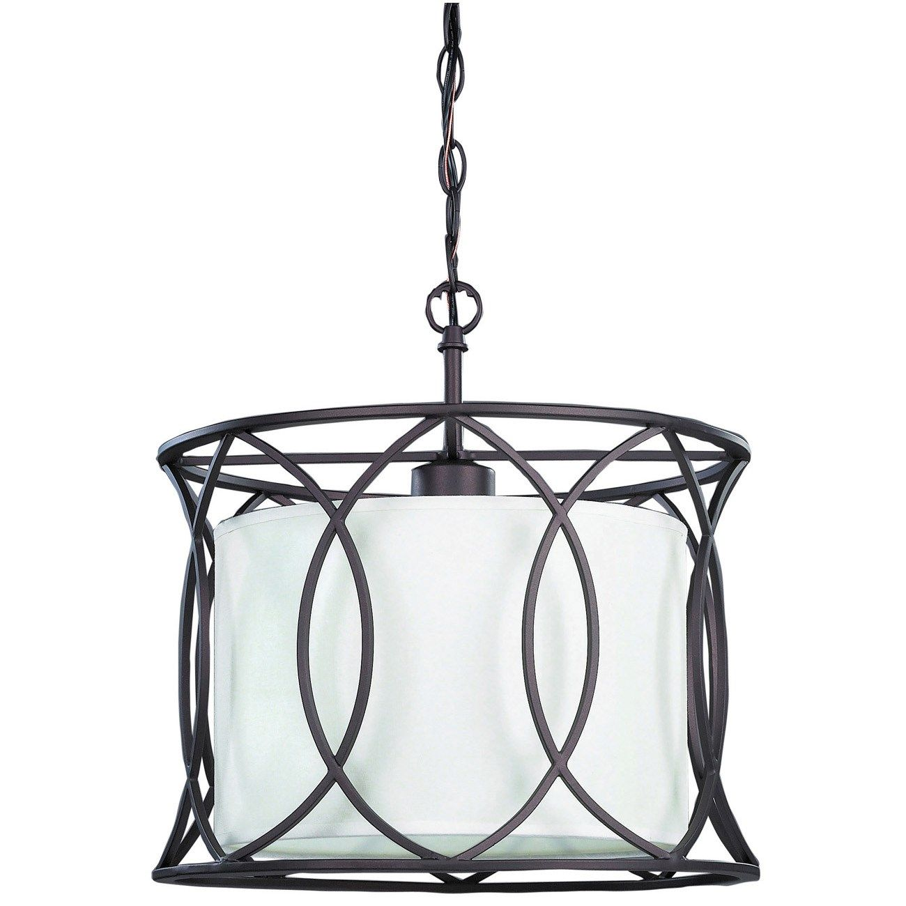 "Canarm Lighting IPL320A01ORB14 Monica 13-1/2"" 1 Light Pendant in Oil Rubbed Bronze"