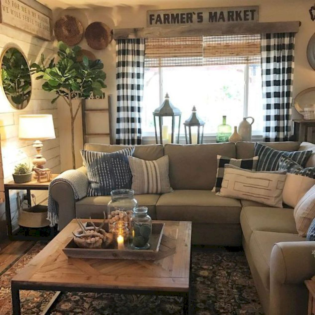 74 Amazing Rustic Farmhouse Style Living Room Design Ideashttps Oneonroom
