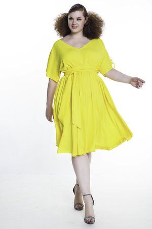 0d0765d059 V Neck Swing Dress w Back Detail in 2019