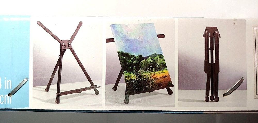 Artists loft compact table top aluminum easel w carrying