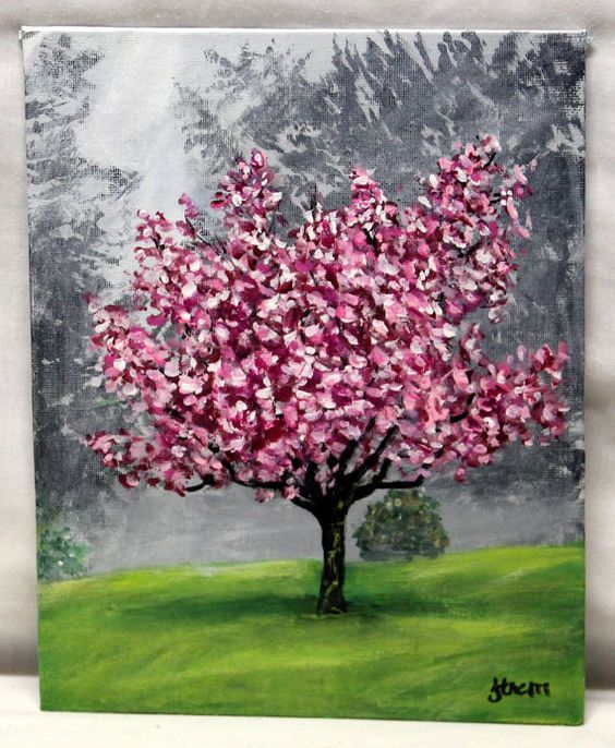 Tree Art Tree Painting Blossoms Art