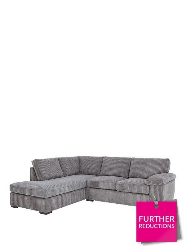 reputable site ad879 44311 Amalfi Left Hand Standard Back Fabric Corner Chaise Sofa ...