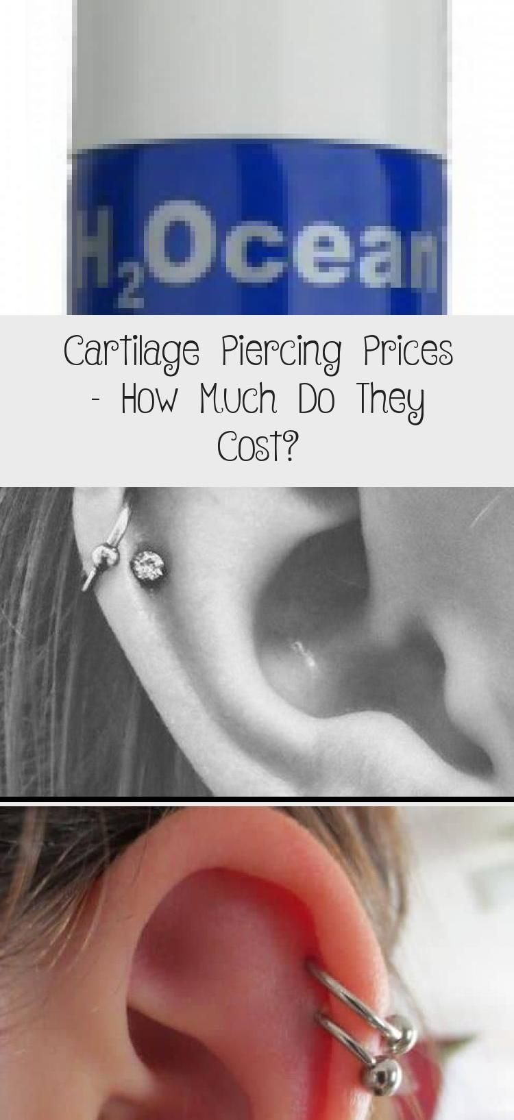 Cartilage Piercing Prices How Much Do They Cost Piercings Cartilage Cartilagepiercings Co In 2020 With Images Cartilage Piercing Care Double Cartilage Piercing Piercings