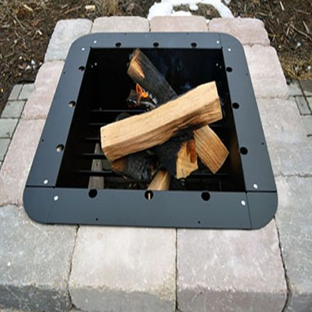 Firebuggz Plug N Play 36 X24 Rectangle Fire Pit Insert Fire Pit Insert Fire Pit Essentials Fire Pit Backyard