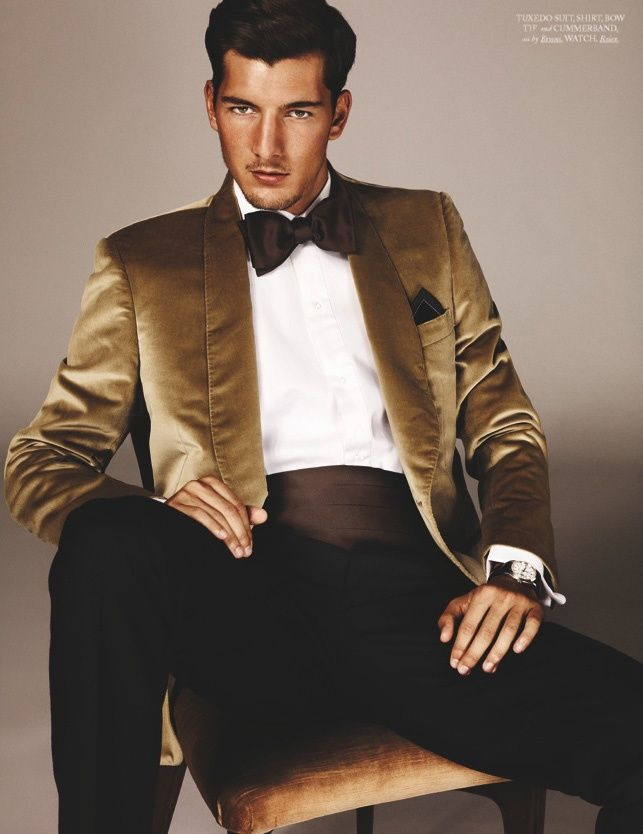 gold men fashion | MEN'S FASHION and STYLE | Pinterest | Party suits