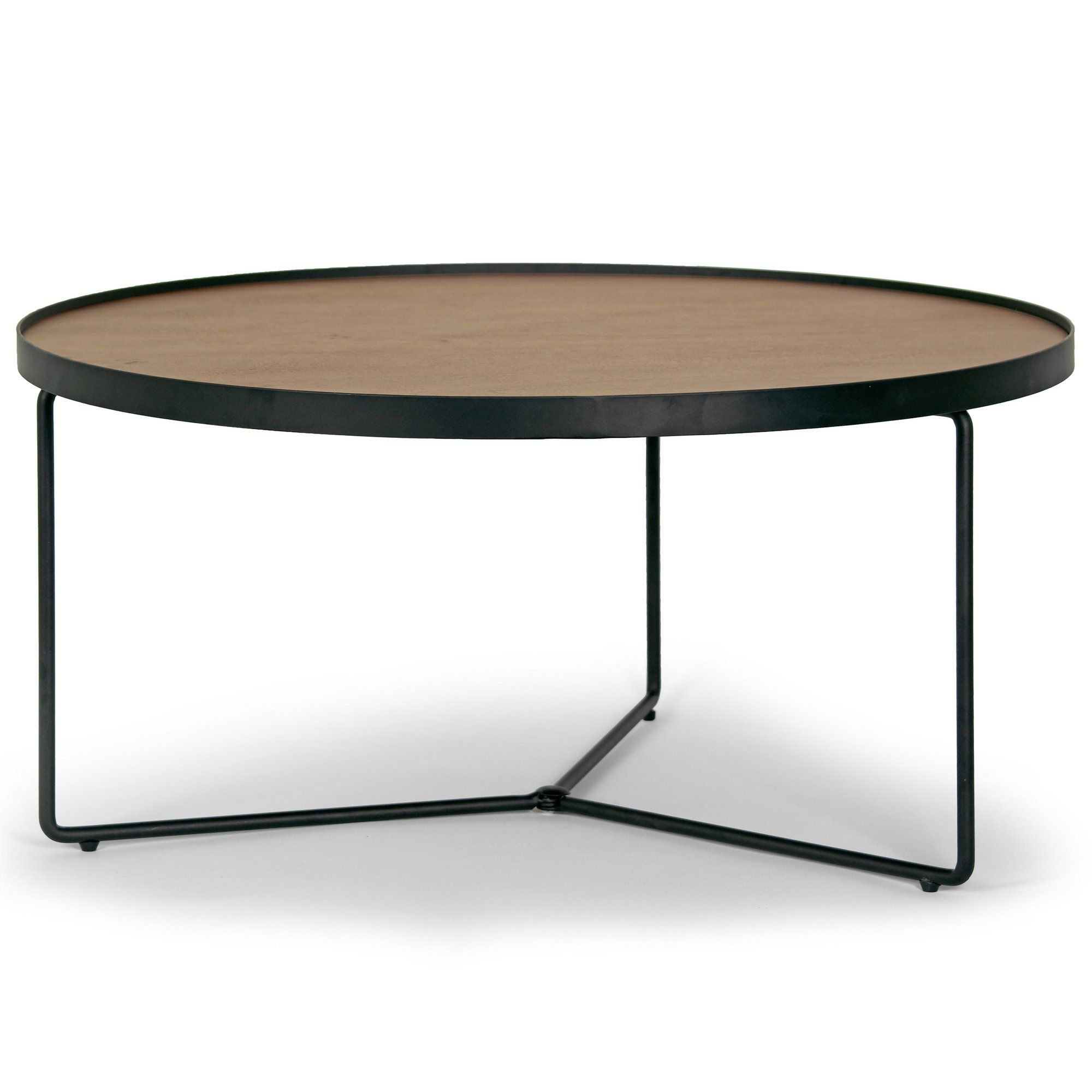 258 Ailsa Rimmed Round Wooden Coffee Table Coffee Table Metal Modern Coffee Table Round Wooden Coffee Table [ 2000 x 2000 Pixel ]