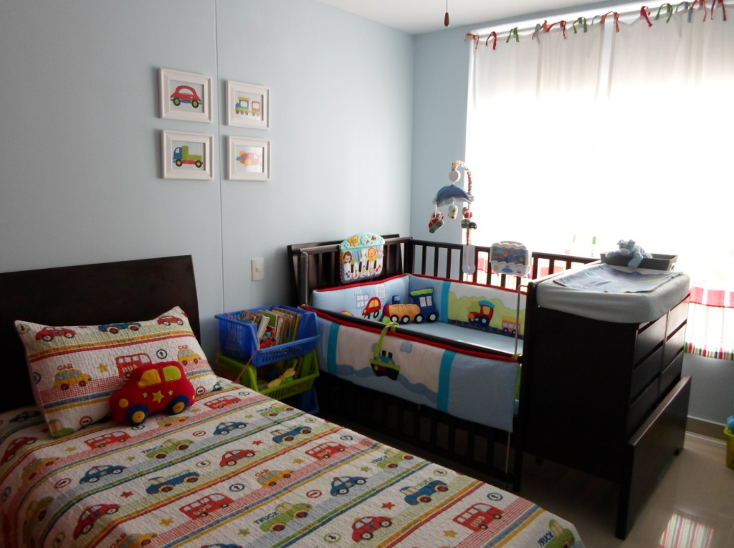 Perfect Shared Bedroom For Little Boys In A Small Space On A Budget Boy And Girl Shared Room Toddler Boy Room Decor Baby And Toddler Shared Room