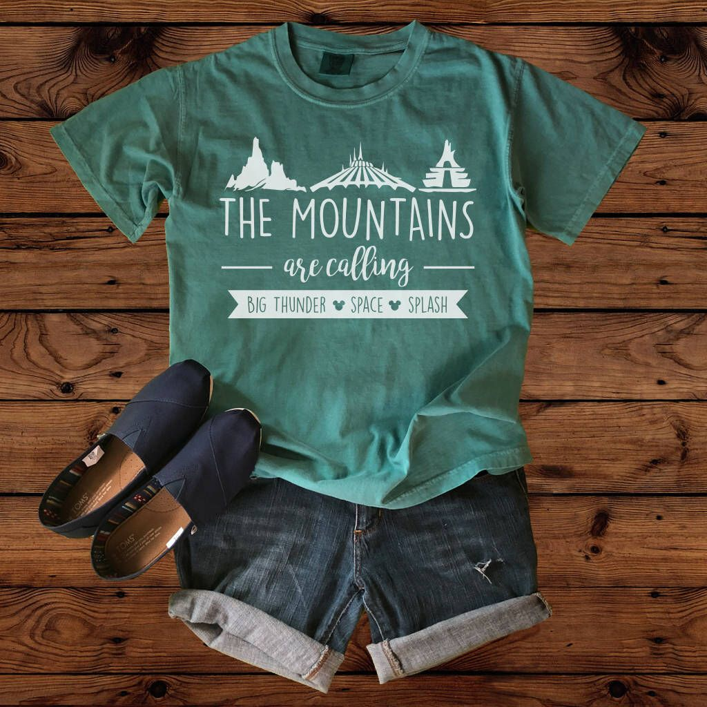 Disney Shirts Disney Shirt The Mountains Are Calling Comfort