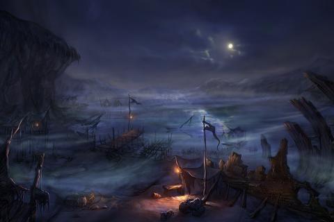 月亮幻想艺术夜海- 图片 1956x1024