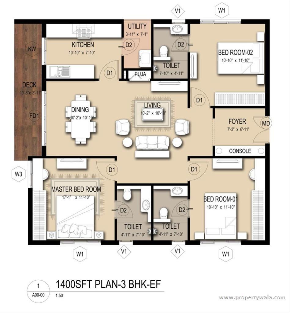nightclub floorplan with dimentions | 3BHK Floor Plan | Blah ...
