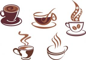 free coffee invitation template baby icons design free vector for
