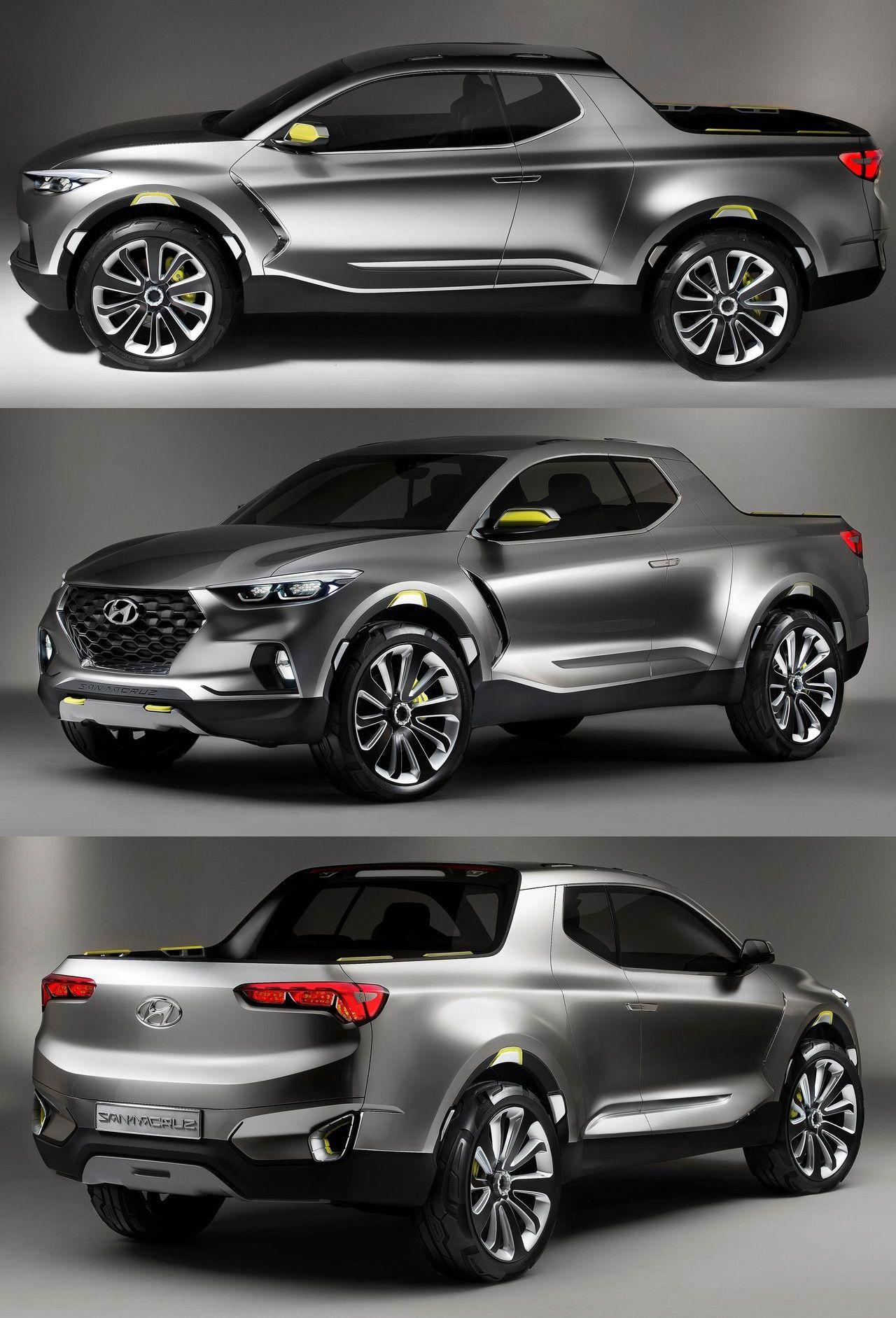 Hyundai Santa Cruz Crossover Truck Concept Design Autos Dacia Sportwagen Futuristic Cars