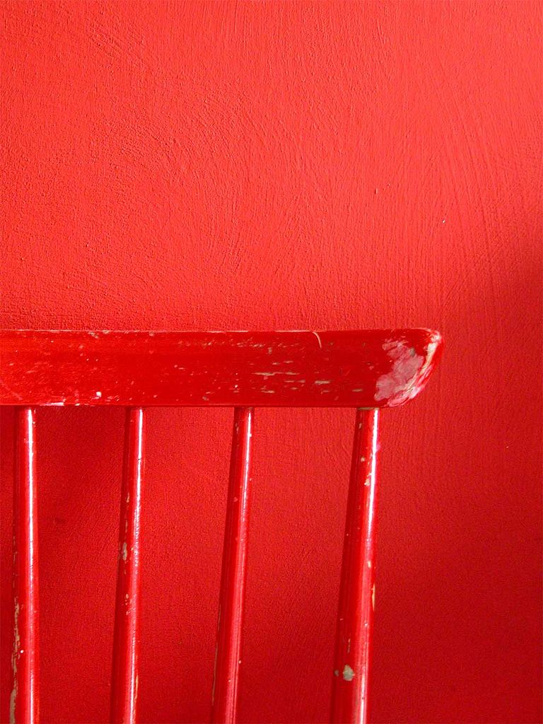 Red chair photography - Red Chair Along Red Wall
