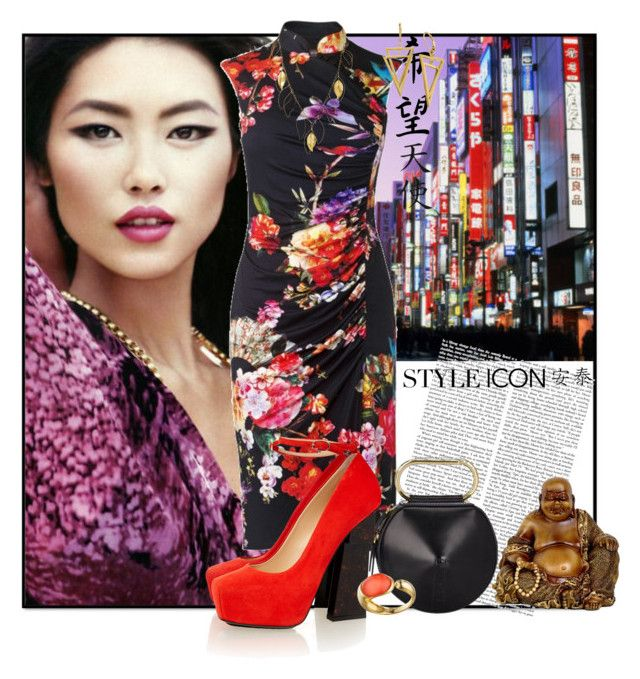 """Asian Florals & Brocades_Asian Nightlife"" by msmith801 ❤ liked on Polyvore featuring Phase Eight, 3.1 Phillip Lim, Aperlaï, Faraone Mennella by R.F.M.A.S. and Aurélie Bidermann"
