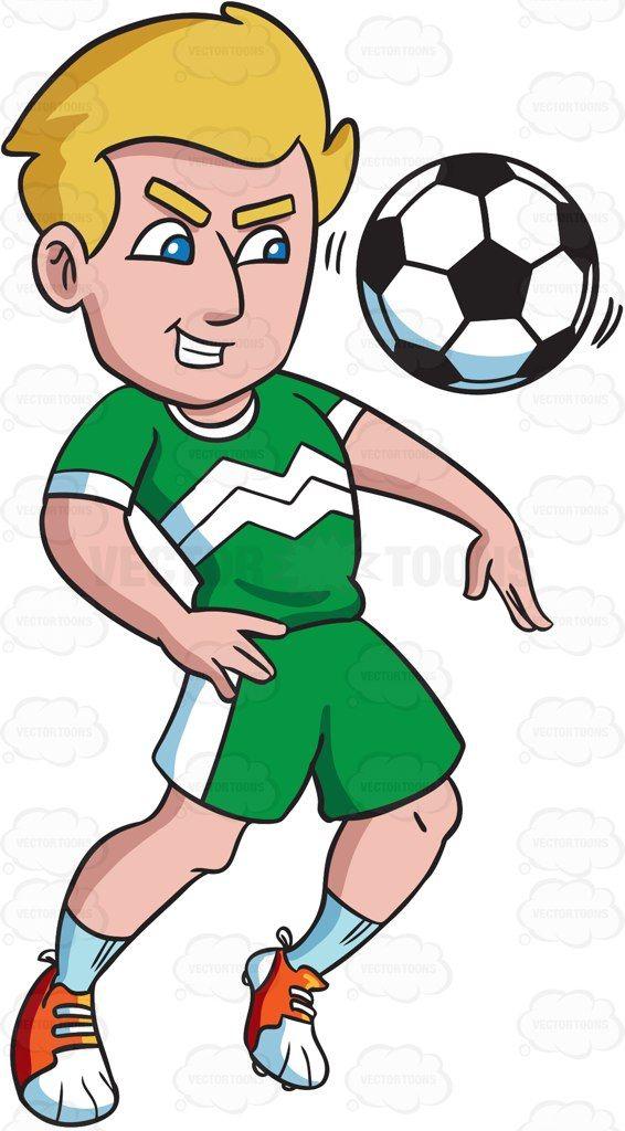 A Male Soccer Athlete Chest Dribbling The Ball Soccer Athlete Blue Socks
