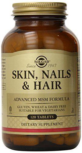Skin Nails Hair Advanced Msm Formula 120 Tablets Price Free Shipping Health Supplements For Hair Loss Hair And Skin Vitamins Hair Vitamins