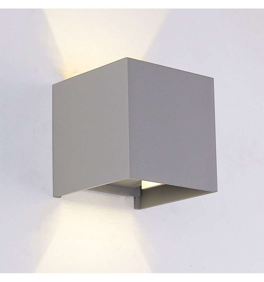 """Lampe murale """"Cubic"""" couleur grise Luminaires LED"""