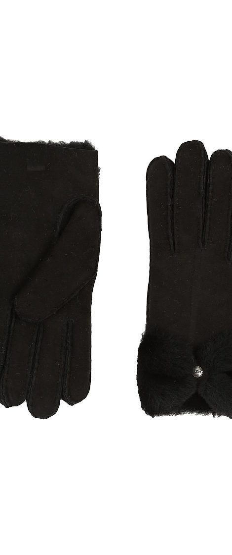 UGG Classic Bow Shorty (Black) Dress Gloves - UGG, Classic Bow Shorty, 11110-200, Accessories Gloves Dress, Dress, Gloves, Accessories, Gift - Outfit Ideas And Street Style 2017