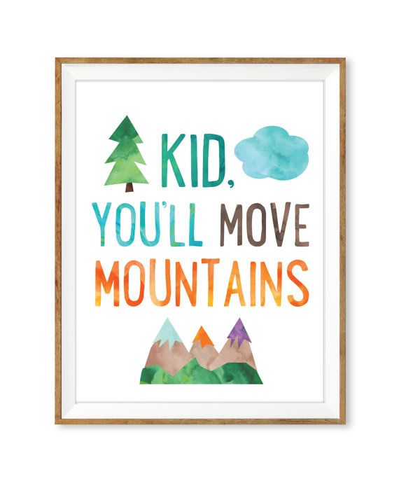 Kid Youll Move Mountains Print Printable Wall Art Dr Seuss Quote