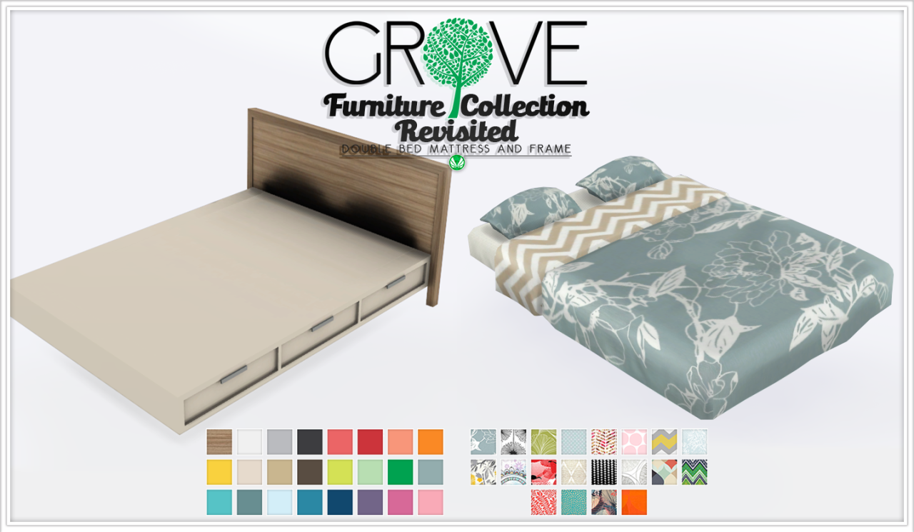 the sims 4 peace s grove furniture set single double bed frame