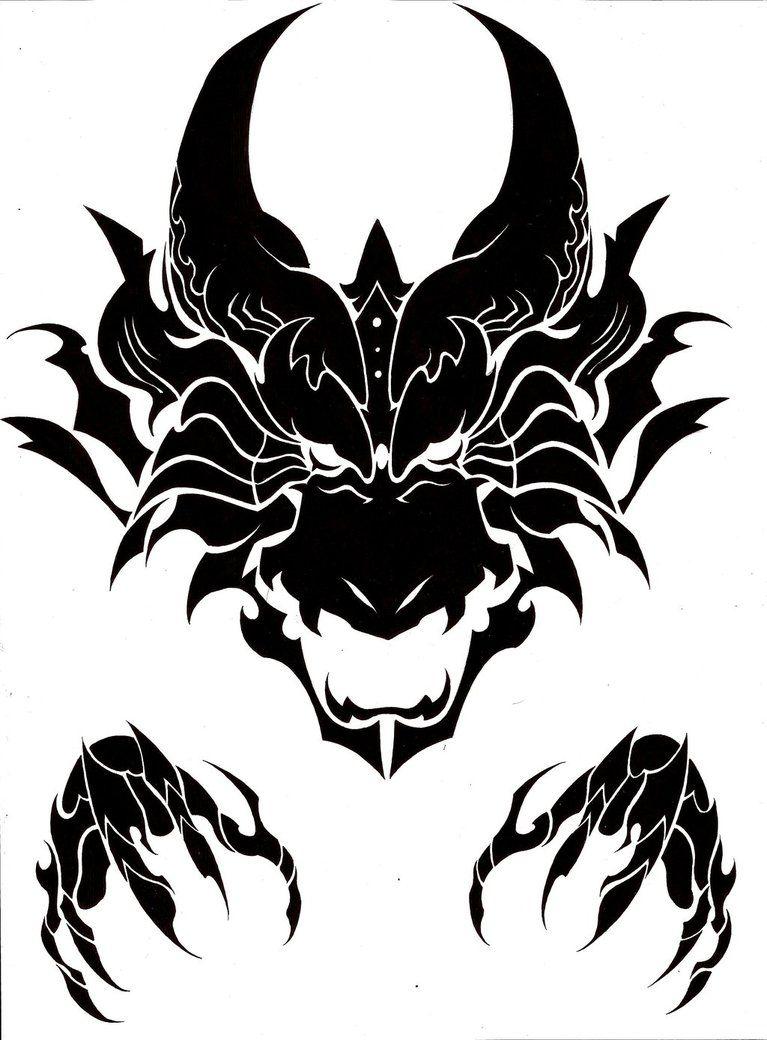 Dragon Head Tribal Tribal Dragon Tattoos Dragon Head Tattoo Tribal Tattoo Designs