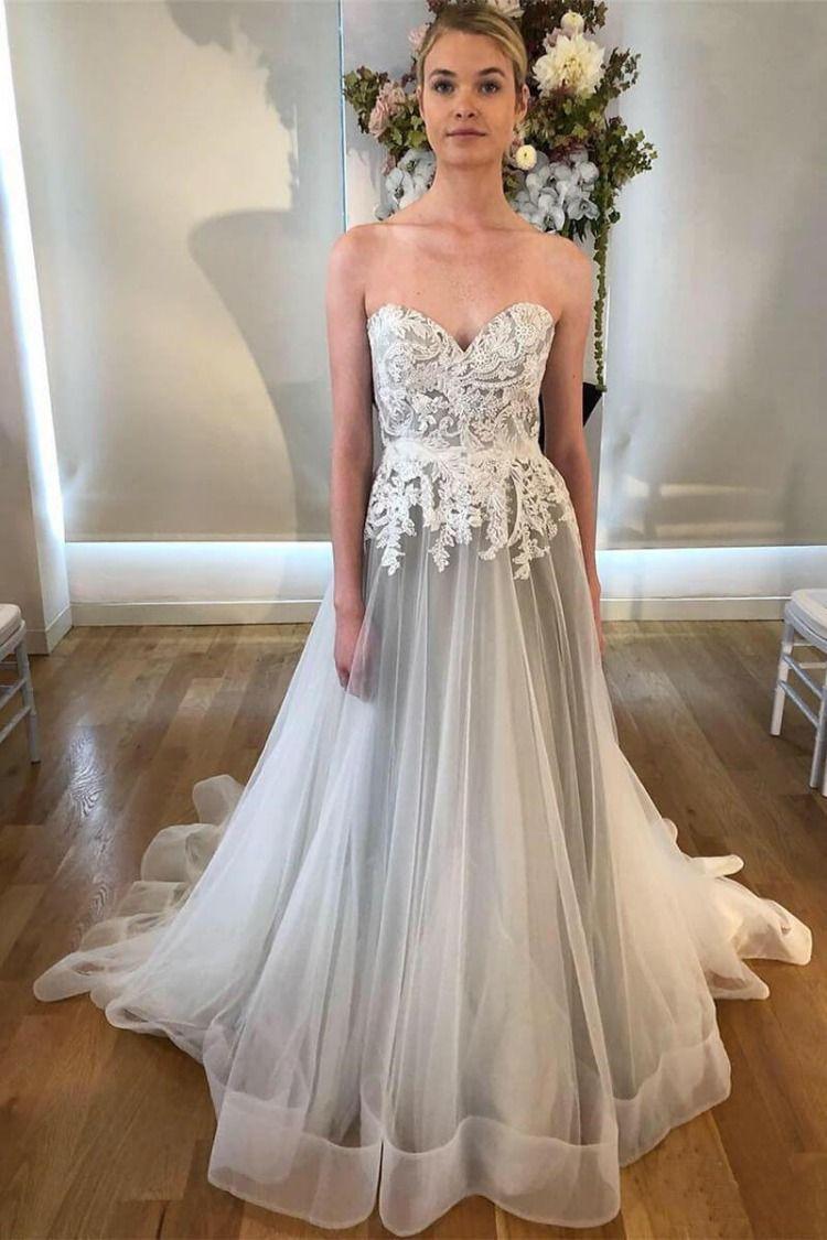 3e27102b14 Grey Sweetheart Wedding Dress - Gomes Weine AG