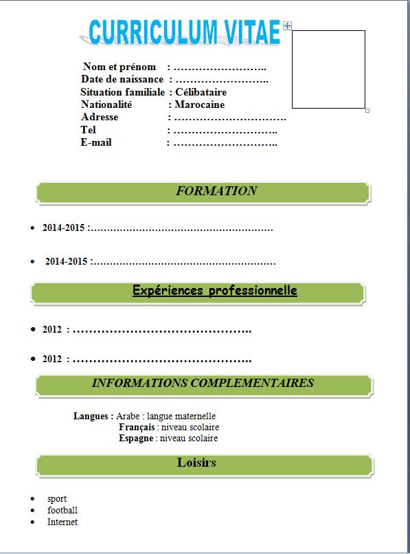 تحميل نموذج سيرة ذاتية بالفرنسية فارغ Word Recherche Google Ios Messenger