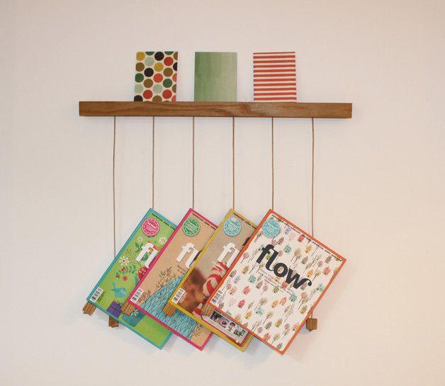 h ngeholz zeitschriftenhalter aus eichenholz m bel pinte. Black Bedroom Furniture Sets. Home Design Ideas