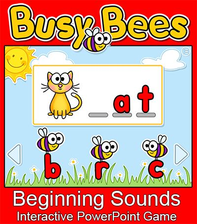 This Fun Interactive Powerpoint Game Will Have Your Students Excited To Practice Cvc Words Your Students Will Love Th Beginning Sounds Cvc Words Phonics Games Phonics online games for kindergarten