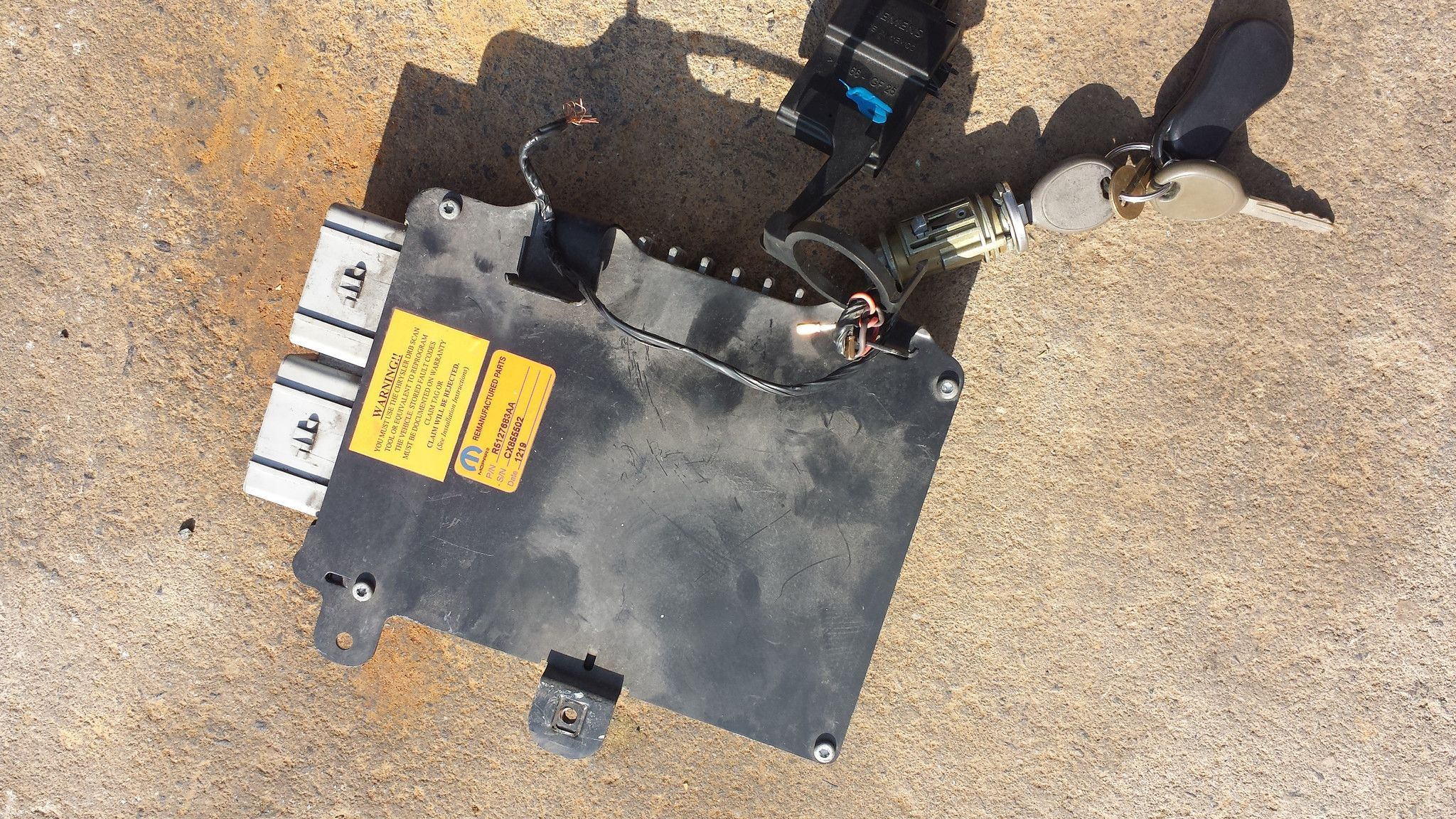 02 03 dodge caravan chrysler voyager 3 3l engine control computer p05127683aa 05127683aa 683aa immobilizer