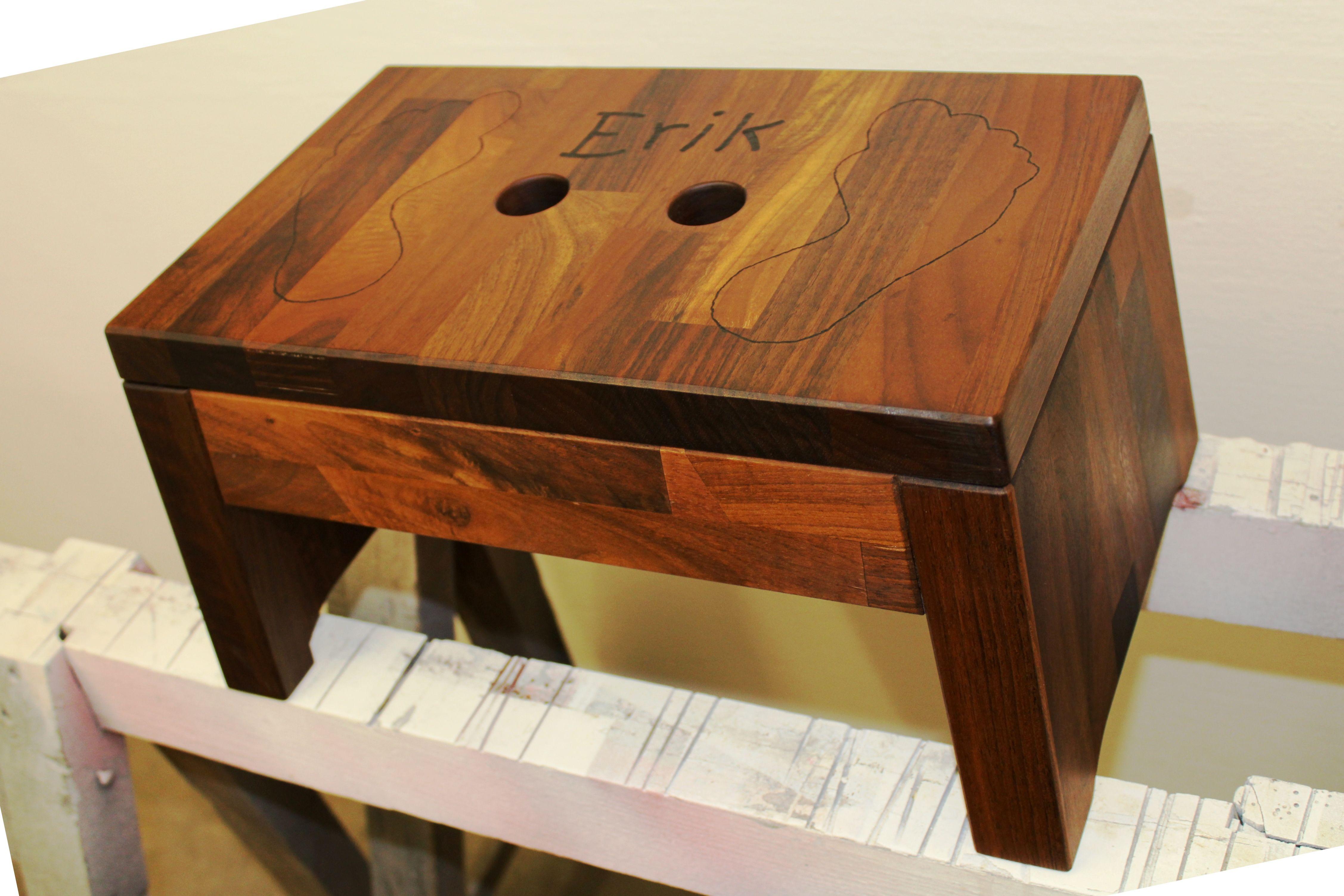 Fusstrittchen Hocker Schemel Fur Kinder Handtuchhalter Holz Holzdesign Schemel