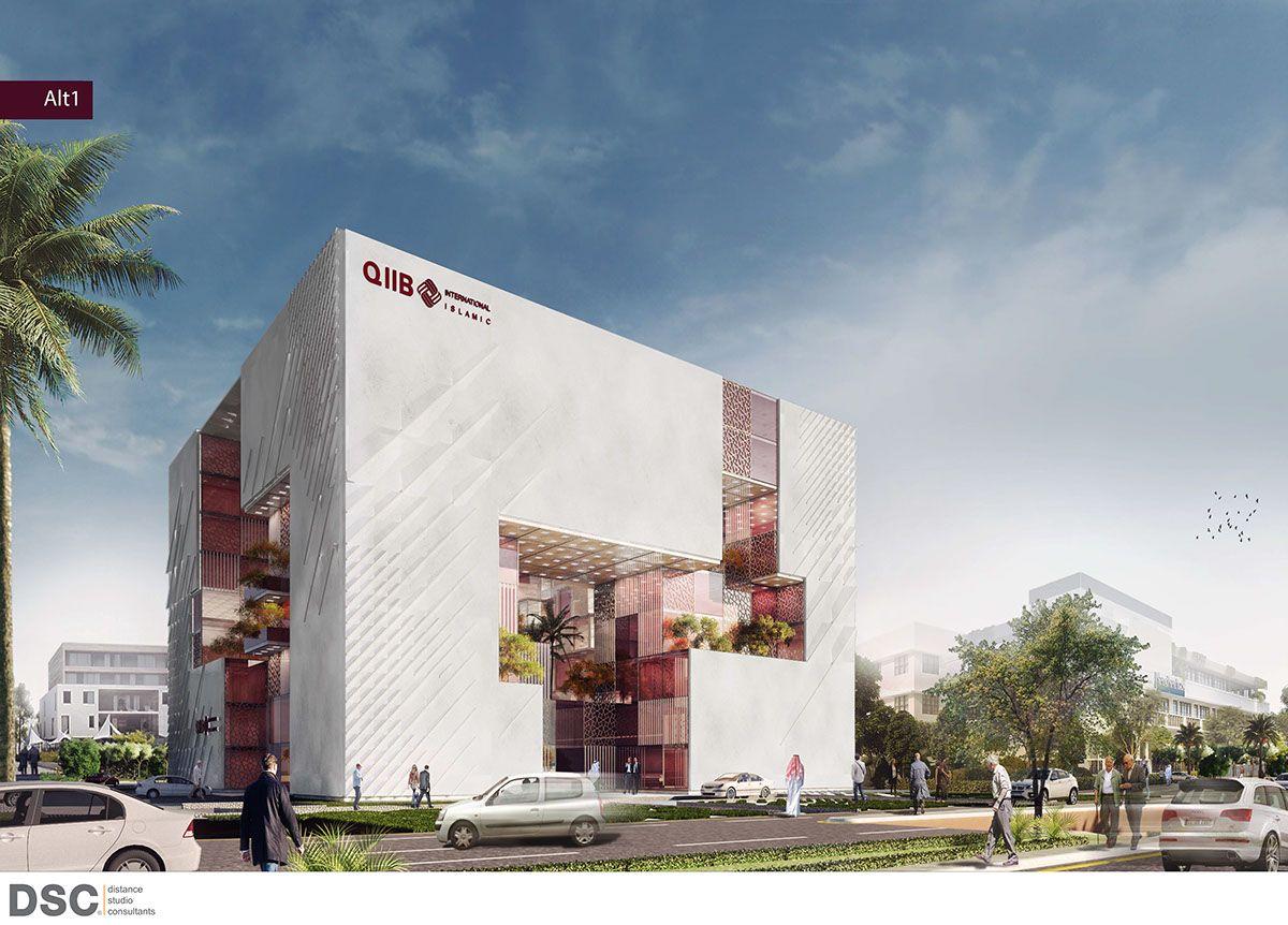 2016 Qatar Islamic International Bank On Behance Modern Architecture Building Architecture Building Modern Architecture