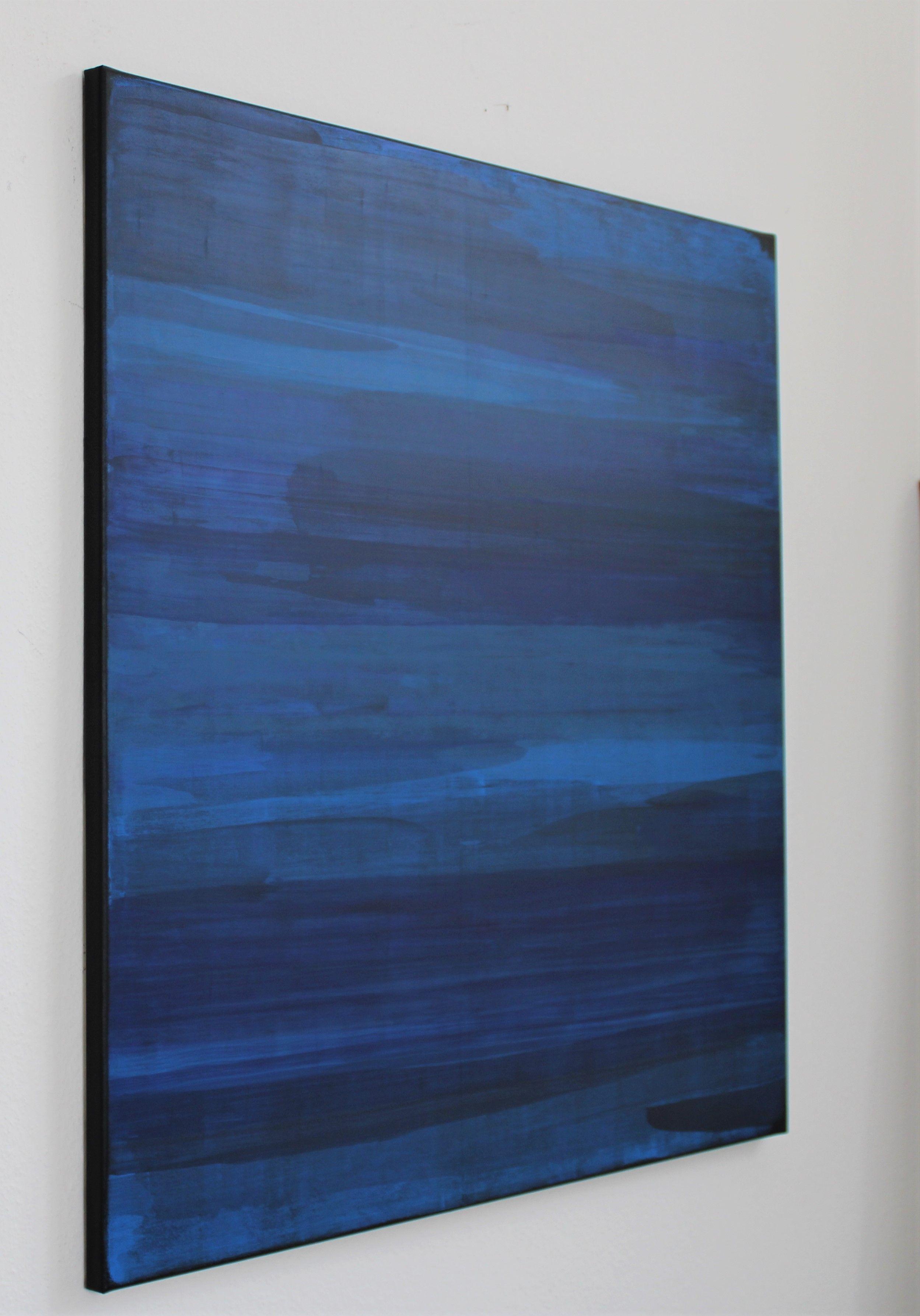 diffuse blue abstrakte acryl malerei auf leinwand 80 x cm minimalistisch blau idee farbe moderne meinfoto meine fotoleinwand