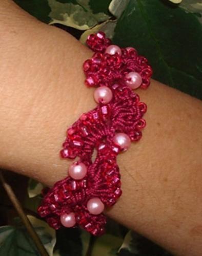 Beaded Dance Bracelet  Brown bracelet crochet by twisted1 on Ravelry.
