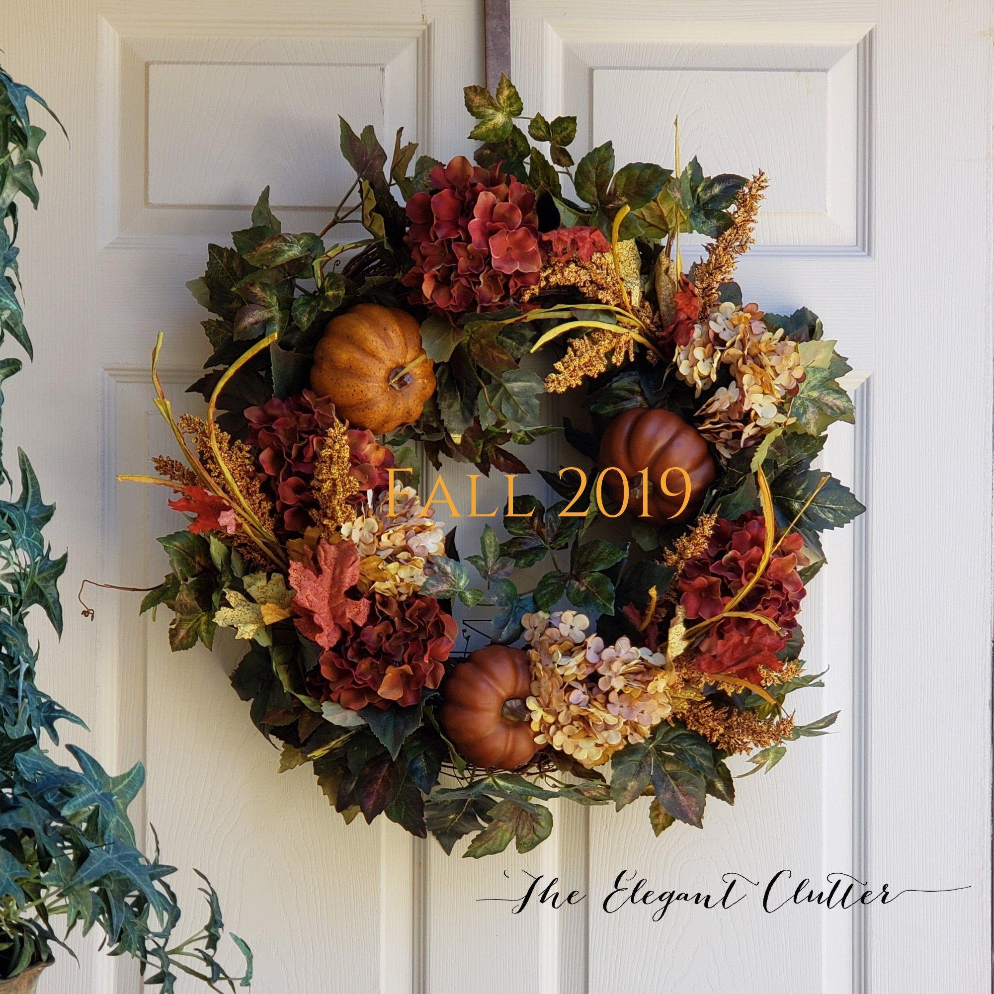 FALL WREATHS| AUTUMN Harvest Door Wreath | Pumpkin Wreath|Thanksgiving Door Wreath|Wreaths For Front Doors|Fall Hydrangea Wreath #fallwreaths