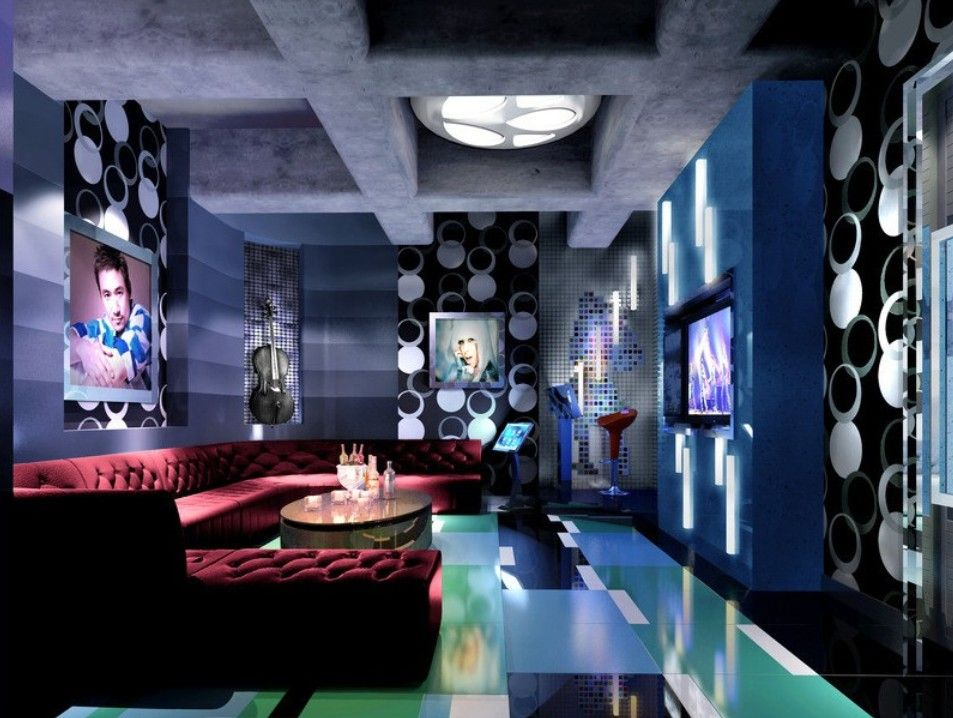 Ktv room interior night collection 8 wallpapers for Karaoke room design ideas