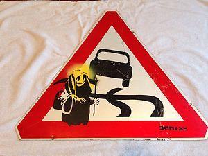 Banksy Cctv métal signe What are you looking at Poster Imprimé Graffiti Wall Art