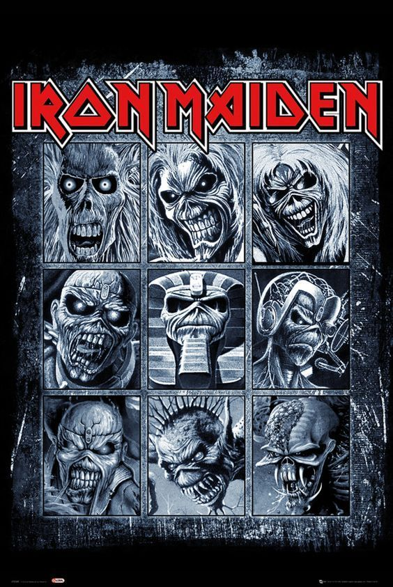 How many versions of Eddie does Iron Maiden have?