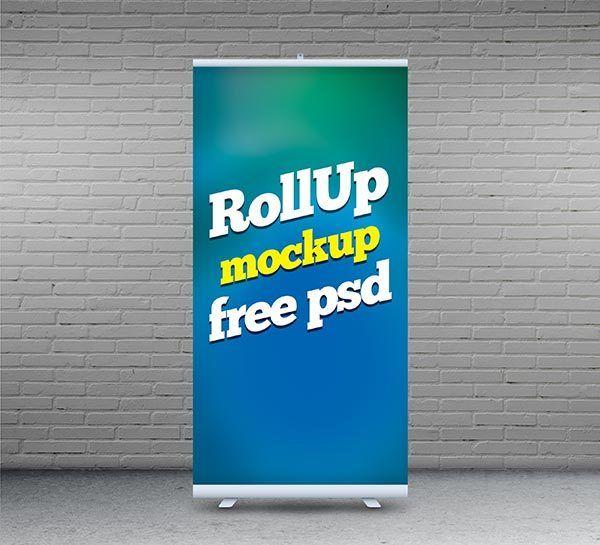 Free Rollup Mockup Psd 20 5 Mb Free Designs Free Photoshop Mockup Psd Rollup Mockup Free Psd Free Mockup Free Psd
