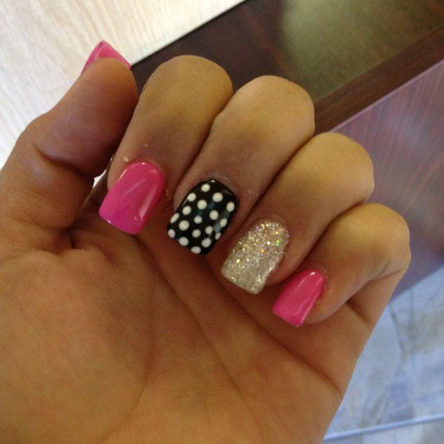 Cute girly nails! - Cute Girly Nails! Make Up And Nails Pinterest Girly, Nails