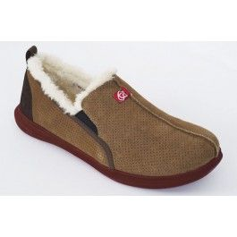 12619eb650e9 Spenco Supreme Slippers for Men - Bison Suede Sherling in 2019 ...