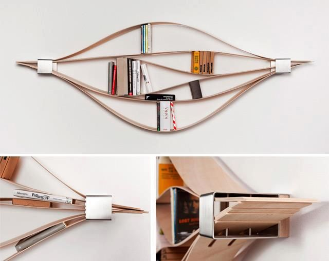 "Flexible Wooden Shelving, ""Chuck"" By Natascha Harra-Frischkorn"