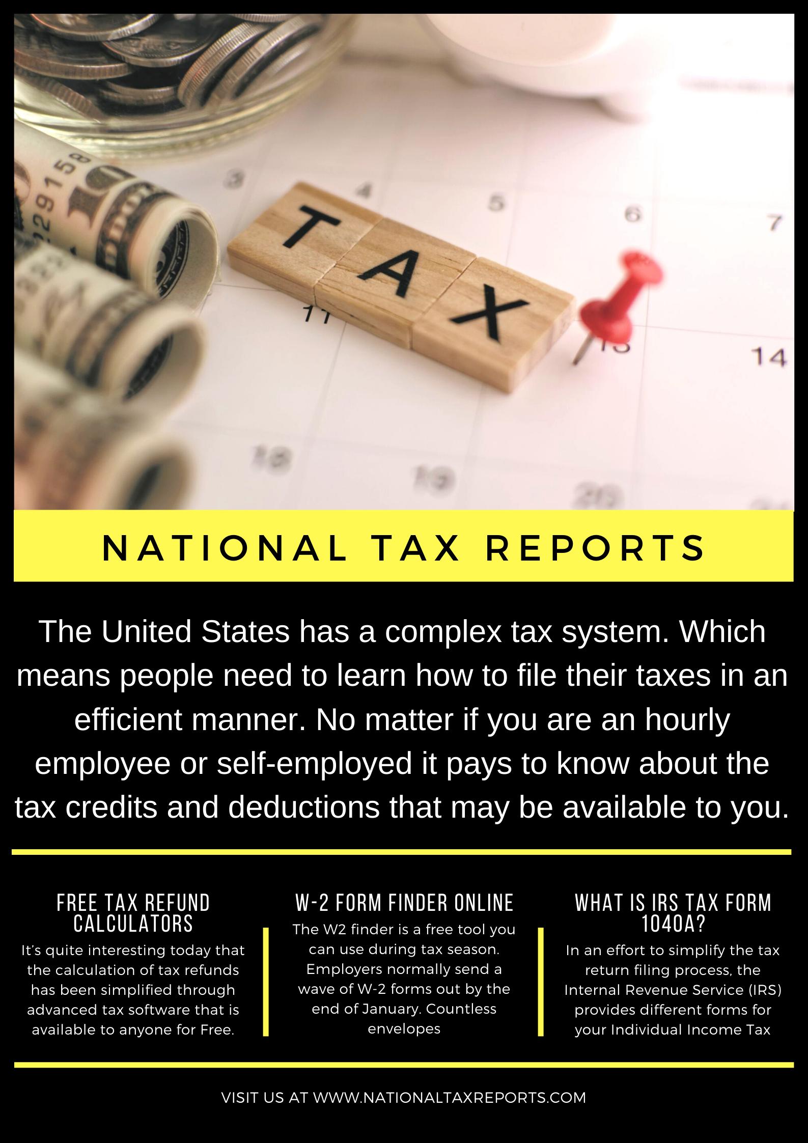 National Tax Reports 2020 2021 Tax Refund Free Tax Filing Irs Tax Forms