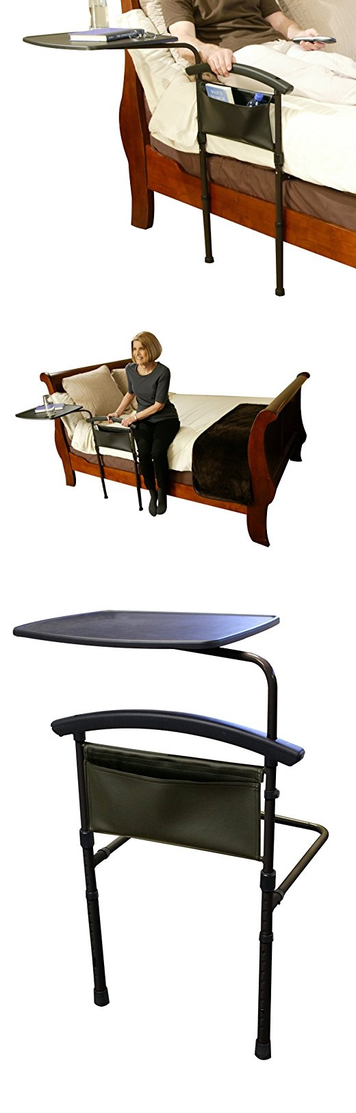 2 in 1 Overbed Table and Home Bed Rail Stand gadgets