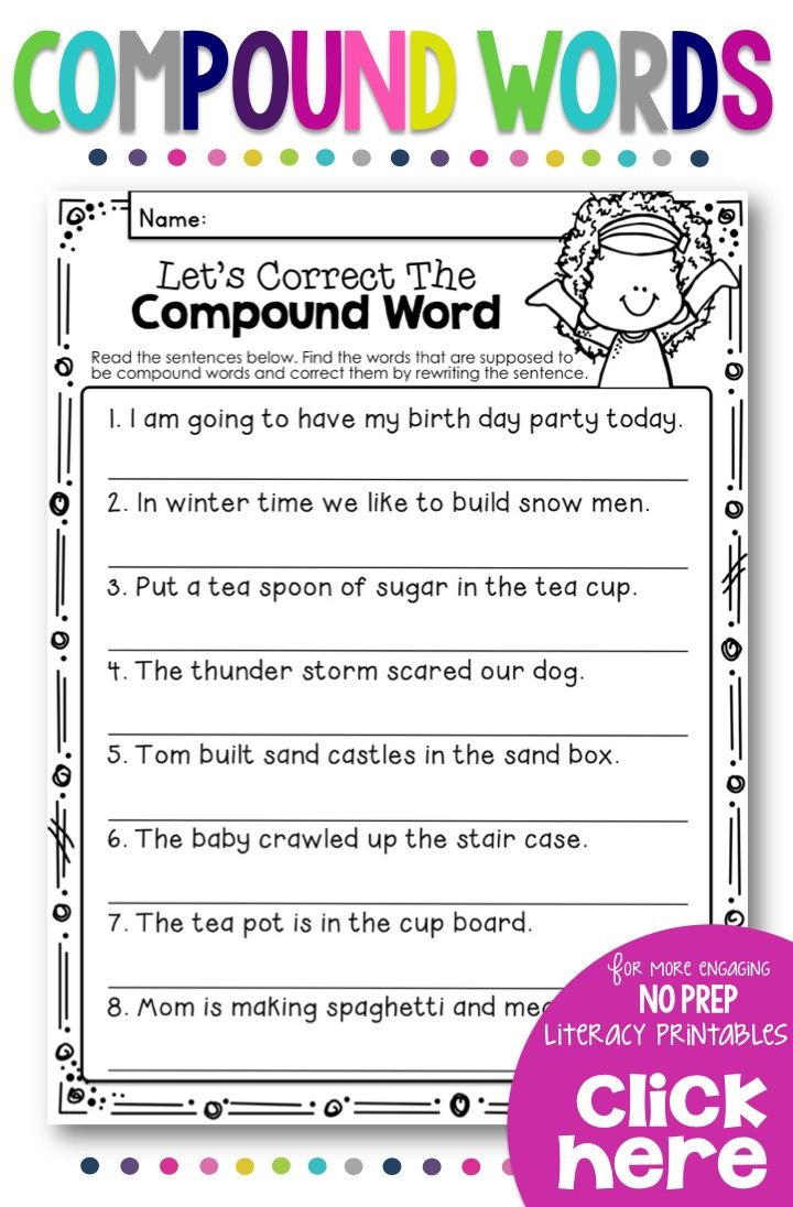Compound Words Bundle With Color Posters Worksheets Answer Keys Compound Words Compound Words Worksheets Words [ 1096 x 720 Pixel ]