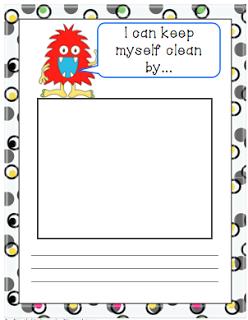 Germ Freebie....Bits of First Grade...Brigid's Daily Lesson ...