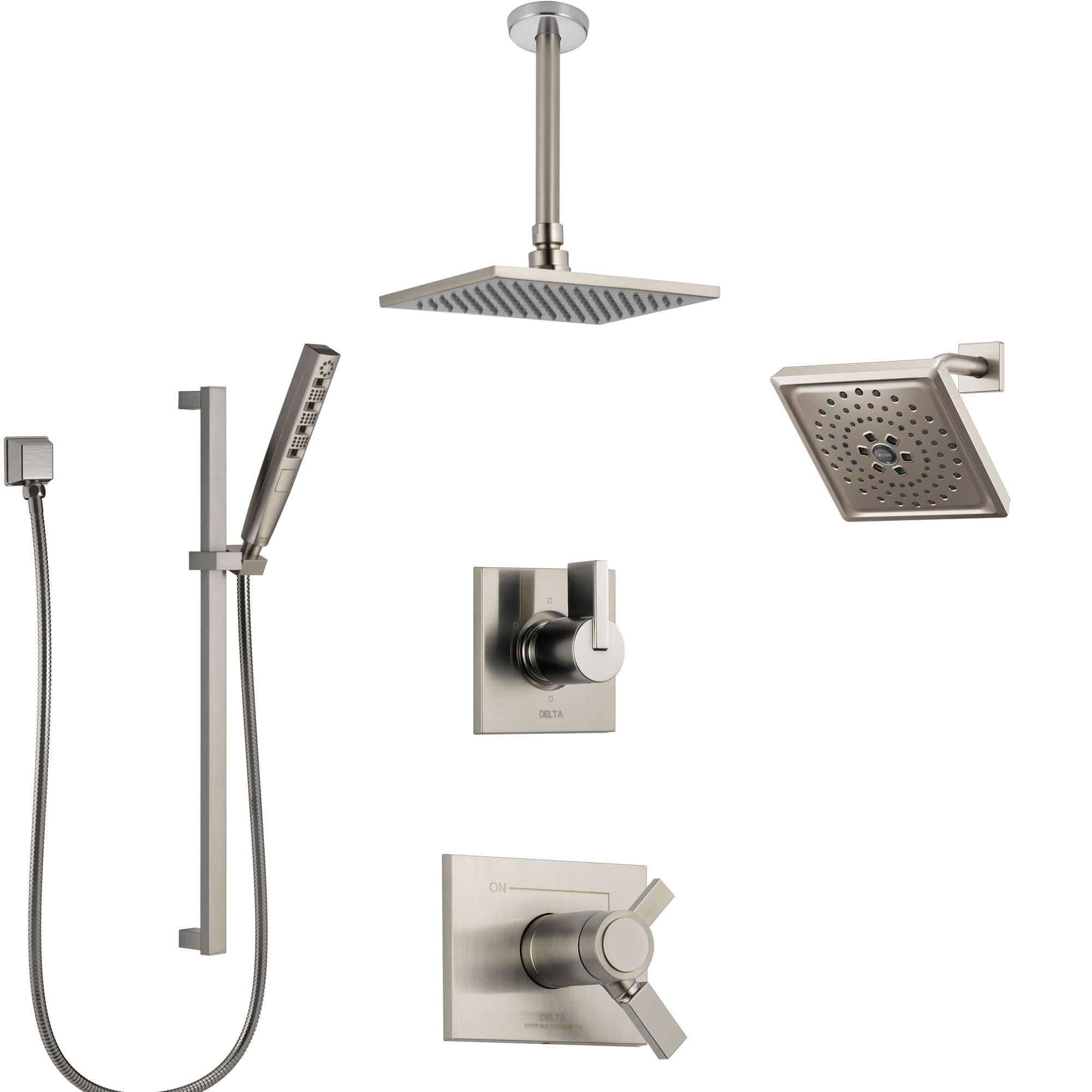 Delta Vero Dual Thermostatic Control Stainless Steel Finish Shower
