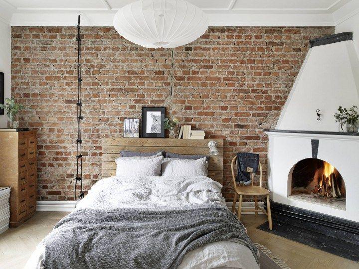 Chimenea en el dormitorio Bedrooms, Interiors and Industrial - schlafzimmer la vida