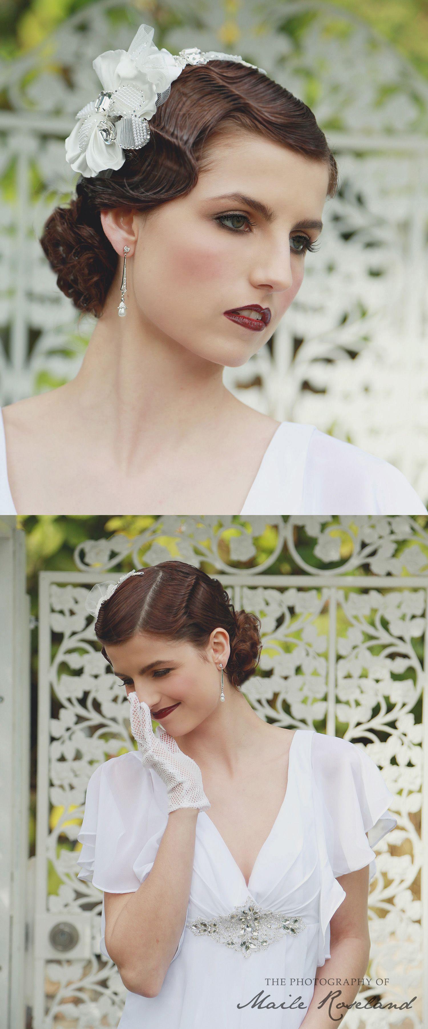 1920s bridal hair and makeup